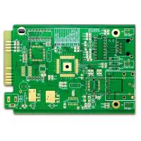 Wholesale Computer PCB FR-4 4 Layer Pcb Prototype ENIG Green Soldmask White Silkscreen With Gold Finger from china suppliers