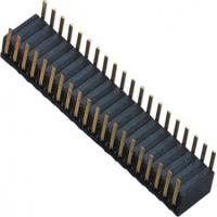 Wholesale Phosphor Bronze 1.27mm 2x20 Female Header Dual Side Insert 90°DIP H=3.45 ROHS from china suppliers