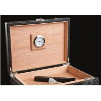 Wholesale Black Luxury Spain Wooden Cigar Gift Box / Engraved Cigar Humidor from china suppliers