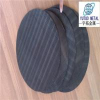 Wholesale 12x64 mesh black wire cloth filter disc from china suppliers