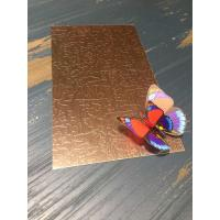 Wholesale China AISI 304 316 Bronze Finish Stainless Steel Sheet From Foshan from china suppliers