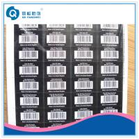 Wholesale Self Adhesive Barcode Labels , White Barcode Labels In Sheet Form from china suppliers