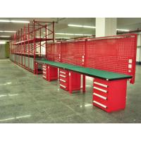 Wholesale Customized Warehouse Garage Industrial Work Table With Led Tube Overhead from china suppliers