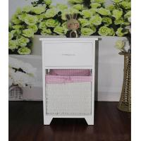 Quality Plastic Basket Chest Of Unit Drawers White Wood Cabinet Sideboard for sale