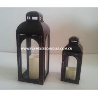 Wholesale Battery Operated Plastic Outdoor Flameless Candle Lantern with Timer for Garden Lighting from china suppliers