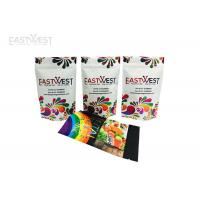 China Resealable Digital Printed Stand Up Pouches , Foil Stand Up Zipper Bags For Smaller Runs on sale