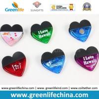 Quality Factory Supply Heart Shape Magnet Clip Plastic Stationery Product for sale