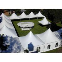 Wholesale Rainproof High Peak Tent With Decorations , Air Conditioned Tent For Wedding from china suppliers