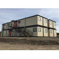 Wholesale Modular Flat Pack Modified Container House With Ladders Two Storey Building With Windows from china suppliers