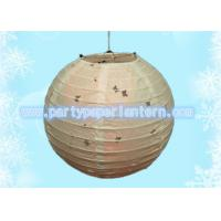Wholesale White Party Paper Lantern , Eyelet Butterfly Paper Lanterns For Weddings / Parties from china suppliers