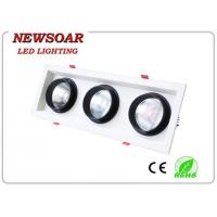 Wholesale manufacture 30w triple head lamps epistar led downlights-cob grille light from china suppliers