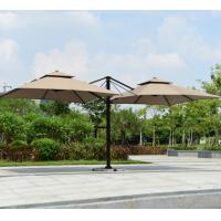 Wholesale Waterproof Outdoor Coffee Shop Dining Hotel Duplex Double Side Roman Umbrella Wholesale ten003 from china suppliers