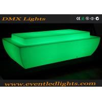 Wholesale Disco KTV DJ Night Club Entertainment square LED Glow Top Poseur Bar Table from china suppliers