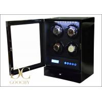 Wholesale LCD Touch Screen Quad Watch Winder Box Black Remote Controller For Gift from china suppliers