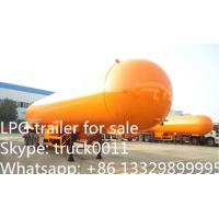 3 axles BPW/FUWA steel suspension/ air suspension 59.4cbm LPG semitrailer for propane for sale, lpg gas tank trailer