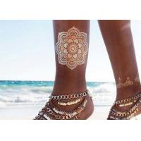 Quality Jewelry Inspired Metallic Body Tattoo Stickers Hand Bracelets Designs for sale