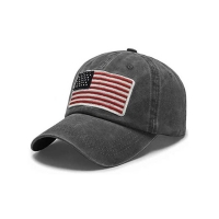Wholesale Trucker Curved Brim Six Panel Dad Cap Embroidered USA Logo from china suppliers