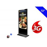 Wholesale 3G Digital Signage Wifi Shopping Mall Kiosk 72 Inch LCD Advertising Screen Panel from china suppliers