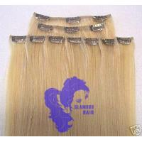 Quality clip in hair,  clip on human hair,  clips hair pieces for sale