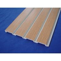 Wholesale Plastic Taupe Slat Wall Panels / White Slatted Wall Panels For Shelves from china suppliers