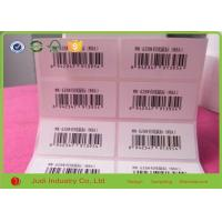 Wholesale Custom Logo Printing Barcode Sticker Labels , 3D Transparent Removable Adhesive Paper from china suppliers