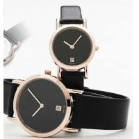 Wholesale Black Leather Strap Quartz Watch Suitable for Couples and Lovers from china suppliers