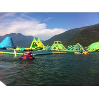 Wholesale Durable 0.9mm PVC Tarpaulin Giant Inflatable Water Park With Tower And Slide from china suppliers