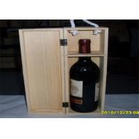 Wholesale Engraved Wooden Wine Storage Boxes Smooth Finish For Convenient Carrying from china suppliers