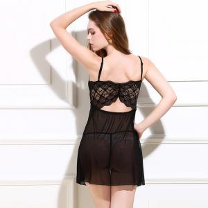 Quality Transparent Hot Fashion Sexy Nylon Lingerie Babydoll Nighty Ladies Sexy Linigerie Sleepwear for sale