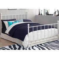 Quality Queen Contemporary Metal Beds Full Size White Wrought Iron Bed Frame for sale