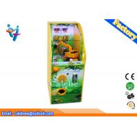 Wholesale Excavator game vending kids game machines yellow coin pusher from china suppliers
