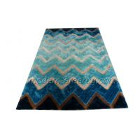 Wholesale Blue Polyester Contemporary Shaggy Rug, Hand-tufted Floor Area Rugs OEM from china suppliers