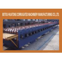 Buy cheap Blue Aluminum Floor Deck Roll Forming Machine Steel With 28 Steps from wholesalers