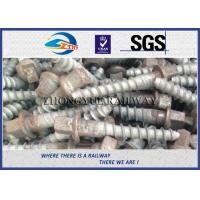 Wholesale Plain Railway Sleeper Screws Spike Railroad Fasteners M24X150MM from china suppliers