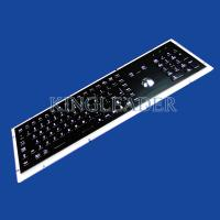 Quality Metal Electroplated Black Industrial Keyboard With Trackball And Numeric keys for sale