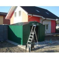 Wholesale OEM Standard Green 12x10 Metal Storage Shed With Sliding Door , Powder Coated Frame from china suppliers