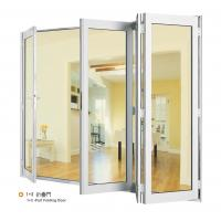Quality Double Aluminium Sliding Folding Glass Door With Anodized Silver Frame for sale