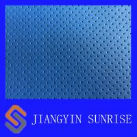 Wholesale Custom Vehicle Woven Leather Fabric / Blue Leather Upholstery Fabric For Cars from china suppliers