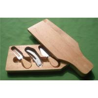 Bottle Shape Cutting Board with Cheese Knife for sale