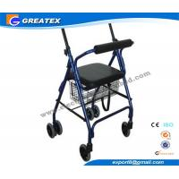 Wholesale Aluminum 4 Wheel rolling walker with seat and Brakes for patient Rehabilitation from china suppliers