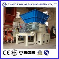 Wholesale Dual Shaft Recycling Waste Plastic Crusher Machine Two Motors from china suppliers