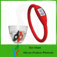 Wholesale Waterproof Black / Orange / Green Anion Silicone Wristband Watch 16cm /17cm / 18cm from china suppliers