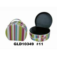 Wholesale Colorful Gift Storage Round Travel Jewelry Case Durable SGS Certification from china suppliers
