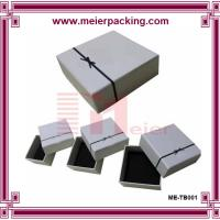 Buy cheap Customized Jewelry paper box for earrings/Ribbon bow square Jewelry Case/ Gift Box Color can Customized ME-TB001 from wholesalers