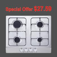 Wholesale Natural Gas / LPG Inset Stainless Steel Gas Hob , Four Burner Gas Stove for Cooking from china suppliers