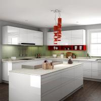 Wholesale Pearl White Melamine Paint For Kitchen Cabinets With Soft Close Blum Hinges from china suppliers