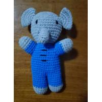 Wholesale Baby Elephant Stuffed Toy Elephant Animal Handmade Amigurumi Stuffed Toy Knitted from china suppliers