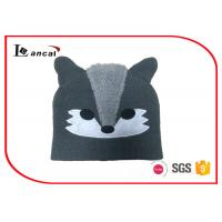 Wholesale Fox Shape Green Winter Knit Hats With Polar Fleece And Applique Emboridery from china suppliers