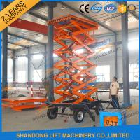 Wholesale 300kg 500kg Towed Mobile Mobile Platform Lift Electric Hydraulic 12m Lifting Height from china suppliers
