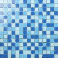 Quality LAR028 Cheap Glass Mosaic for Swimming Pool Mosaic Bathroom mix blue colours for sale